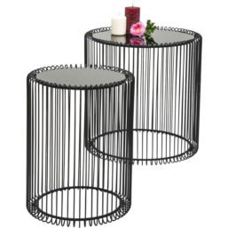 Side Table Wire Black (2/Set)