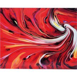 Chaos Fire 150x120cm glassbilde