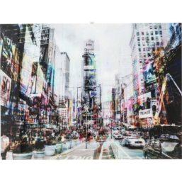 Times Square Move 90x120cm glassbilde