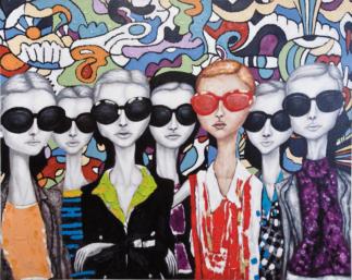 Oil Painting Sunglasses 120x150cm