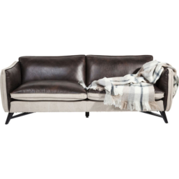 Sofa Fashionista Leather/Canvas 3-Seat