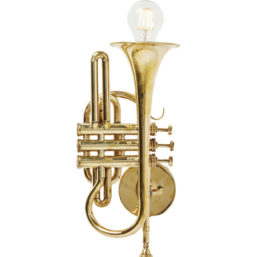 Wall Lamp Trumpet Jazz Gold
