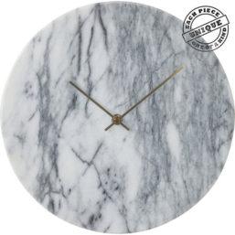 Wall Clock Desire Marble Weiß