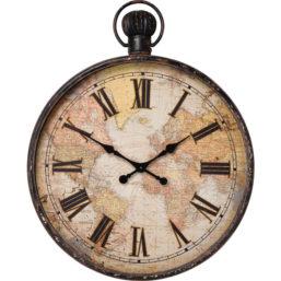 Wall Clock European Map 96cm