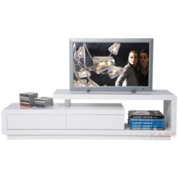 White Club TV Board Loft 2 drawers