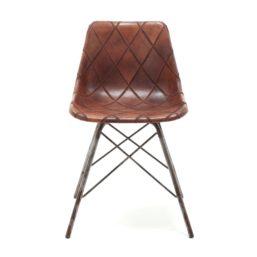 "Stol ""cross leg mould patch"" brun"