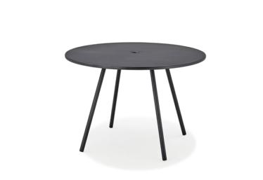 Area bord dia. 110 cm, Lava grå, aluminium