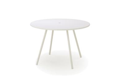 Area bord dia. 110 cm, White, aluminium