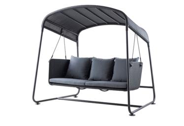 Cave hammock inkl. grå Sunbrella putesett, Graphite, Cane-line fiber