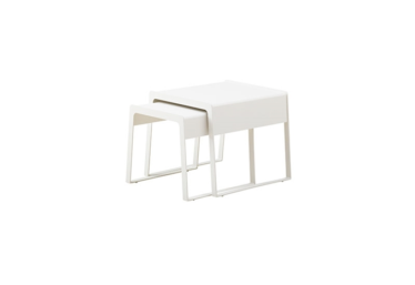 Chill-out sideborde (large + small), White, aluminium