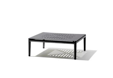 Conic sofabord 75x75 cm, Lava grey, aluminium