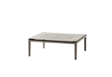 Conic sofabord 75x75 cm, Taupe, aluminium