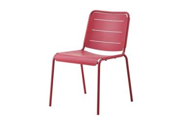 Copenhagen stol u/arm, Marsala, aluminium