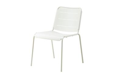 Copenhagen stol u/arm, White, aluminium