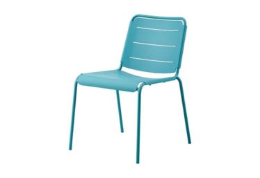 Copenhagen stol u/arm, Aqua, aluminium