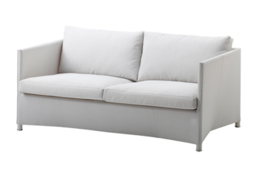 Diamond 2 pers. sofa inkl. pute, White, Cane-line Tex