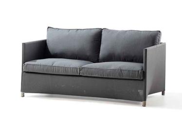 Diamond 2 pers. sofa inkl. Sunbrella Natte pute, Grey, Cane-line Tex
