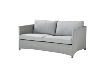 Diamond 2 pers. sofa inkl.Sunbrella putesett, Light grey, Cane-line Tex
