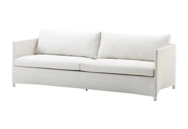 Diamond 3 pers. sofa inkl. pute, White, Cane-line Tex