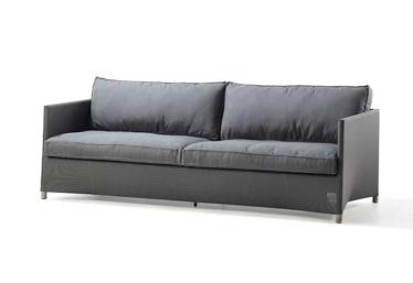 Diamond 3 pers. sofa inkl. Sunbrella putesett, Grey, Cane-line Tex
