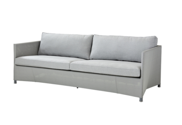 Diamond 3 pers. sofa inkl. Sunbrella putesett, Light grey, Cane-line Tex