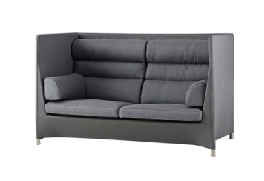 Diamond highback sofa inkl. Sunbrella putesett, Grey, Cane-line Tex