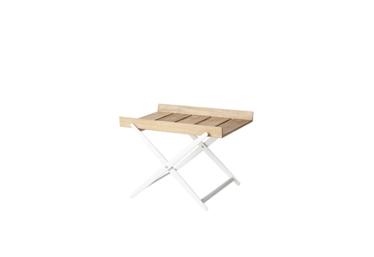 Rail brettbord, sammenfellbart, Teak m/ white aluminium
