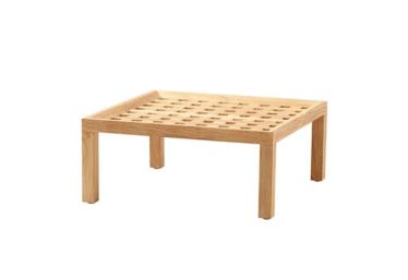 Square sofabord/krakk, Teak