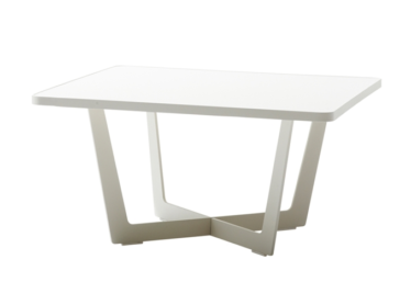 Time out sofabord, liten, White, aluminium