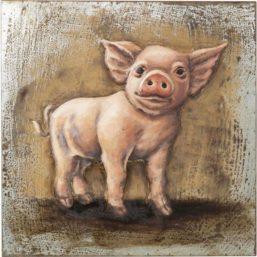 Piggy Bilde, Metall 80x80cm