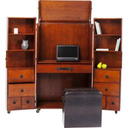 Wardrobe Trunk Office Croco Brown