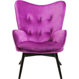 Armchair Vicky Velvet Purple