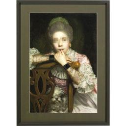 Bilde m/ramme Incognito Sitting Countess 112x82cm