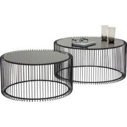Sofabord Wire Black (2/Set)