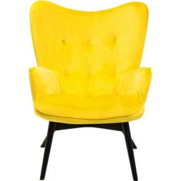 Lenestol Black Vicky Velvet Yellow