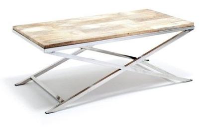 Sofabord Mango steel, Cross leg 120x60 H46cm
