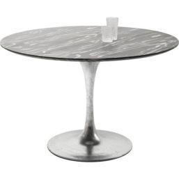 Spisebord Invitation Set Ebony Zinc Ø120cm