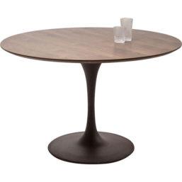 Spisebord Invitation Set Walnut Black Ø120cm