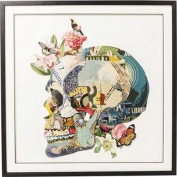 Bilde m/ramme Art Skull 100x100cm