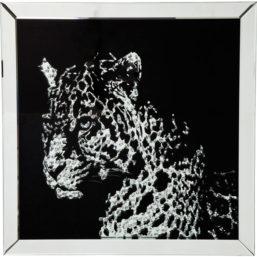 Bilde m/ramme Mirror Leopard