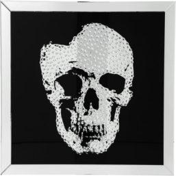 Bilde m/ ramme Mirror Skull 100x100cm