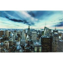 Glassbilde New York Sunset 160x120