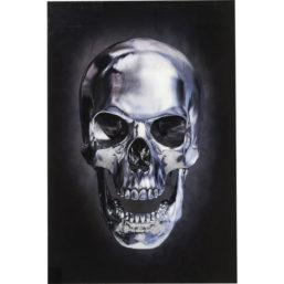 Glassbilde Skull 120x80cm