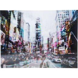 Glassbilde Times Square Move 120x160cm