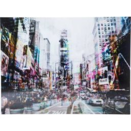 Glassbilde Times Square Move 70x90cm