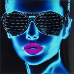 GlassbildeTough Girl 120x120cm