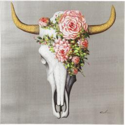 Bilde Touched Flower Skull 80x80cm