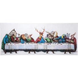 Maleri Touched Last Supper 100x240cm