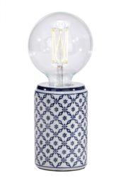 Lampefot Zhang Li Porslin Blå 16cm