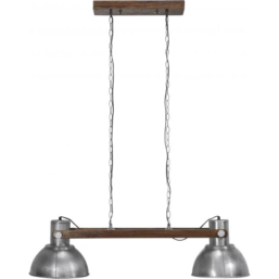 Taklampe Ashby Double Pale Silver 110cm